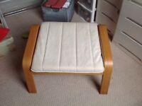 IKEA Poang footstool and cushion
