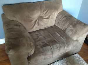 3 cushion couch and over size (cushion and a half) chair