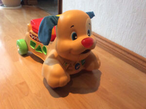 FISHER PRICE - LAUGH & LEARN STRIDE TO RIDE PUPPY