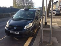 2007 (57 plate )1.6 turbo diesel fiat scudo hackney taxi with Plymouth plate