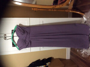 Beautiful long gown, sweetheart cut, strapless Victorian lilac