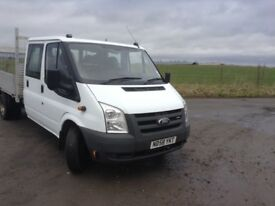 Ford transit crew cab dropside with tail lift 29000 genuine miles