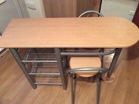 Breakfast bar / table & 2x chairs