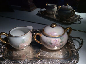 Vintage Fine China Hand Painted Cream and Sugar like Nippon