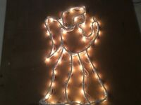 Christmas decorations window silhouette Angel
