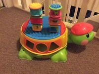 Musical turtle shape sorter