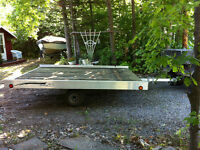 Snowmobile or ATV Trailer 8 x 10 Aluminum, used once!