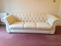 Chesterfield 3 seater sofa and arm chair