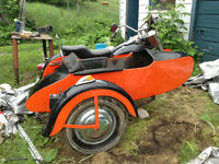 Harley Shovelhead with side car. New Price