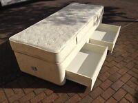 """Single divan bed 2'6"""" wide"""