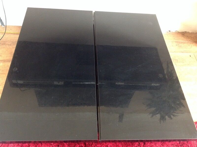 Next black high gloss coffee table with storage