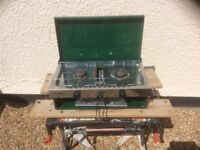 Camping double gas burner stove