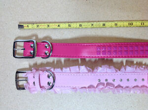 ** BRAND NEW ** 2 pink / fuchsia dog collars - size L - 29 inch Cambridge Kitchener Area image 2