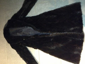 Perfect condition ladies black mink coat for sale