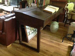 19th century solid oak drafting desk