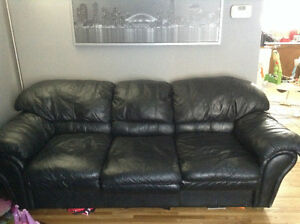 Real Leather Pull Out Couch