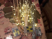 "White Branch LED Lights,16"" wedding, home anniversary decor"