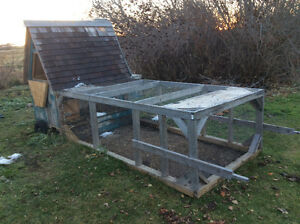 We'll build movable chicken coop.
