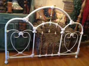"Victorian style solid iron queen size bed headboard -63""W x 45""H"