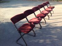 Vintage space saving stacking chairs