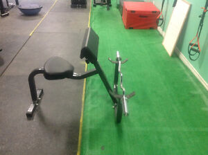 Preacher curl with Olympic easy curl bar