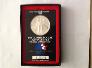 1983 U.S.A. Olympic Coin Silver .900 Proof Condition