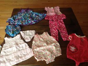 Girls summer clothing bundle, size 6-12 mths