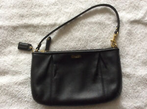 Large Coach leather wristlet