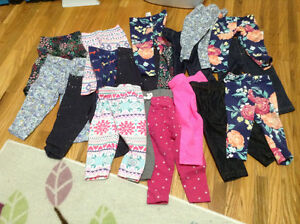 Baby Girl Carters Pants Size 9 Months (18 Pairs)