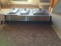 Heated food tray