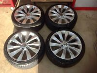 """New 18"""" Scirocco alloys with new tyres"""