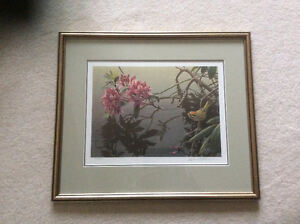 "Robert Bateman ""Golden Crowned Kinglet and Rhododendron"""