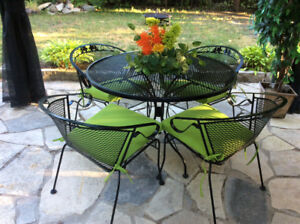 Patio Table and Chairs with Sunbrella Cushions