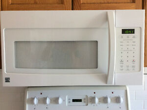 FRIGIDAIRE OVEN + KENMORE above-the-range-MICROWAVE