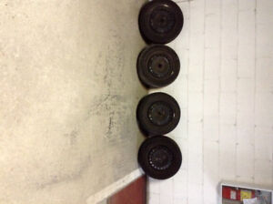P175-65R14 tires and rims, Honda Fit, Toyota Echo, Yaris