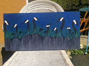 Original painting of Canadian geese by April jones