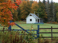 Post and Beam Off Grid Cabin with 60 Acres - Fields and Forests