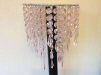 Pink Acrylic Crystal Pendant Ceiling Light Shade Girls Modern
