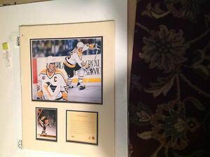 Mario Lemieux-Limited Ed. Kelly Russell matted print (unframed) London Ontario image 1