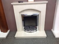 Small Curve Micromarble Fireplace