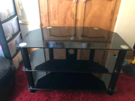 Large Glass Tv Stand EXCELLENT CONDITION