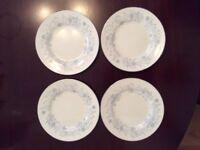 4 Wedgwood Belle Fleur Tea Plates