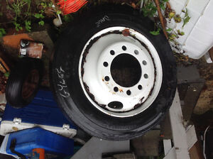 Tire and rim spare off 35ft Motor home