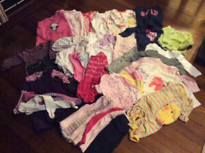 Lot of baby girl clothes, size 6-12 months A