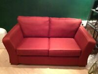 Marks and Spencer Lincoln Sofa in Brick Red Colour 2 Seater