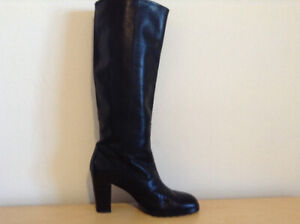 Hilary Radley Black Leather Boots – Size 7 – Almost New