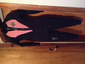 Latitude 45th Parallel Black Pink 5mm Wetsuit S