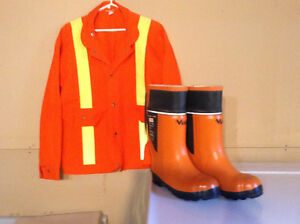 Safety jacket and boots