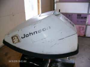 Johnson  9.5 hp outboard  older motor  cover - cowling