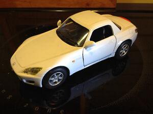 """Honda S2000 Hard Top White Die Cast Metal 5"""" by Kinsmart"""